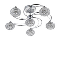 Zeev Lighting Kent Collection Chrome Semi Flush Mount SF50005/6/CH