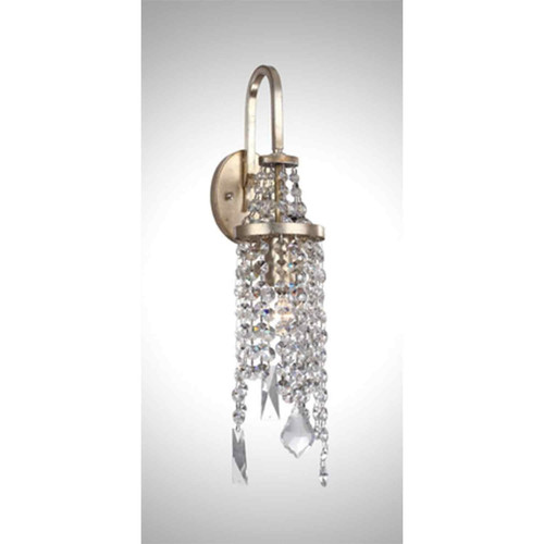 Zeev Lighting Palais Collection Silver Leaf Wall Sconce WS70007/1/SL-AG-V