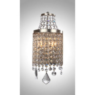 Zeev Lighting Palais Collection Silver Leaf Wall Sconce WS70008/2/SL-AG-V