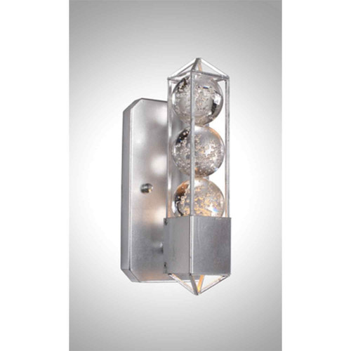 Zeev Lighting Imbrium Collection Silver Leaf Wall Sconce