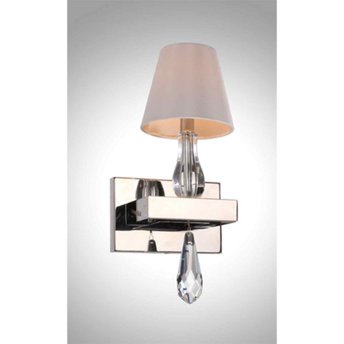Zeev Lighting Sophia Collection Chrome Wall Sconce WS70010/1/CH
