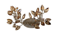 Zeev Lighting Misthaven Collection Antique Gold Wall Sconce WS70015/2/SL-AGP-CC