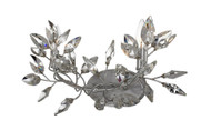 Zeev Lighting Misthaven Collection Silver Leaf Wall Sconce WS70015/2/SL-CL