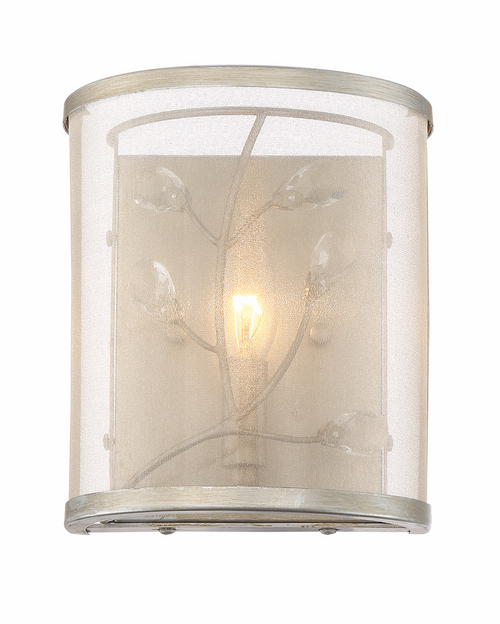 Zeev Lighting Vine Burnished Silver Wall Sconce WS70027/1/BNS