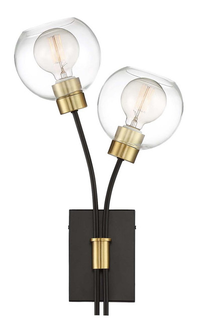 Zeev Lighting Pierre Polished Brass And Matte Black Wall