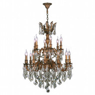 Worldwide Lighting Versailles Collection 18 Light French Gold Finish W83350FG27