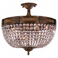 Worldwide Lighting Winchester Collection 6 Light Antique Bronze Semi-Flush Mount W33353B20