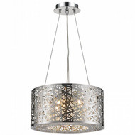 Worldwide Lighting Aramis Collection 6 Light Drum Round crystal Chandelier W83143C16