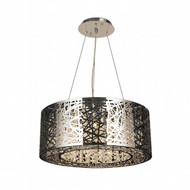 Worldwide Lighting Aramis Collection 12 Light Drum Round crystal Chandelier W83143C24