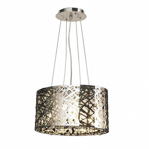 Worldwide Lighting Aramis Collection 5 Light Drum Round crystal Chandelier W83144C16