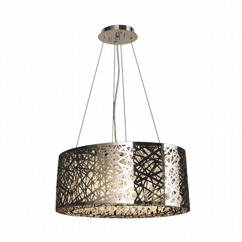 Worldwide Lighting Aramis Collection 10 Light Drum Round crystal Chandelier W83144C24