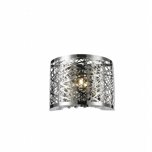 Worldwide Lighting Aramis Collection 1 Light crystal Wall Sconce w23143c8
