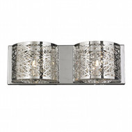 Worldwide Lighting Aramis Collection 2 Light crystal Wall Sconce w23143c20