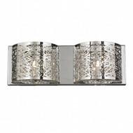 Worldwide Lighting Aramis Collection 2 Light crystal Wall Sconce w23143c20