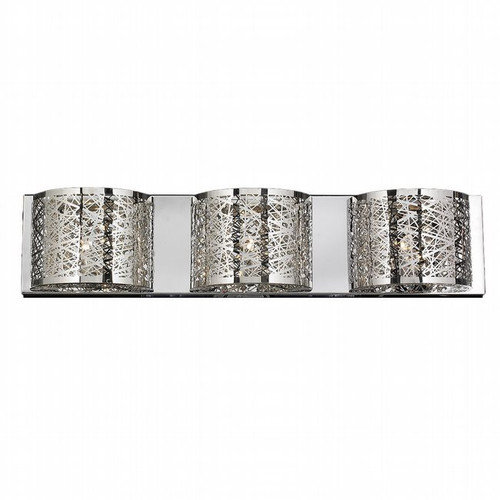 Worldwide Lighting Aramis Collection 3 Light crystal Wall Sconce w23143c30