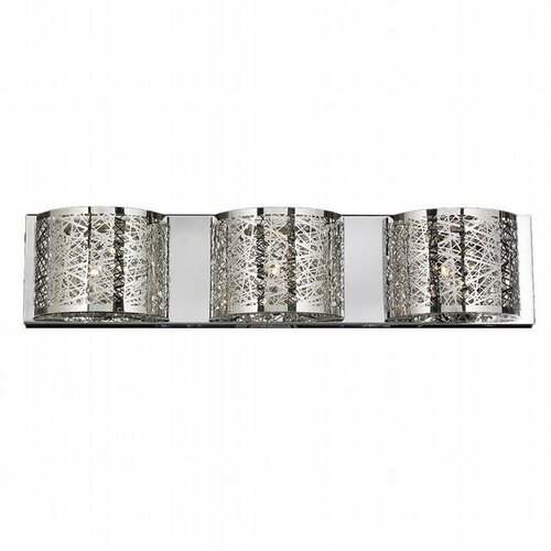 Worldwide Lighting Aramis Collection 3 Light crystal Wall Sconce w23143c30
