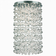 Worldwide Lighting Effervescence Collection 13 Light Chrome With Blown glass Flush Mount Light W33153C36