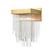 Zeev Lighting Waterfall Collection Aged Brass Wall Sconce WS70043/1/AGB