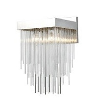 Zeev Lighting Waterfall Collection Aged Brass Wall Sconce WS70044/1/PN