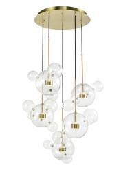 Zeev Lighting Sattelite Collection Aged Brass Chandelier CD10380/5/AGB