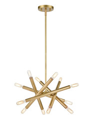 Zeev Lighting Mandelorian Collection Aged Brass Chandelier CD10386/12/AGB