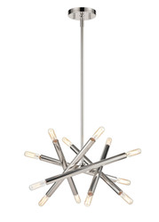 Zeev Lighting Mandelorian Collection Polished Nickel Chandelier CD10387/12/PN