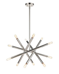 Zeev Lighting Mandelorian Collection Polished Nickel Chandelier CD10389/12/PN