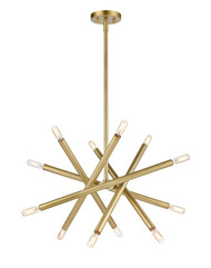 Zeev Lighting Mandelorian Collection Aged Brass Chandelier CD10388/12/AGB