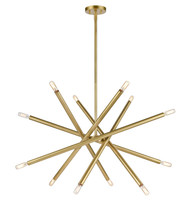 Zeev Lighting Mandelorian Collection Aged Brass Chandelier CD10390/12/AGB