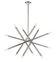 Zeev Lighting Mandelorian Collection Aged Brass Chandelier CD10391/12/PN