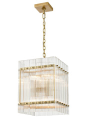Zeev Lighting Allure Collection Aged Brass Pendant P30101/8/AGB