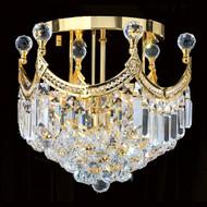 Crystal flush mount chandeliers KL-41042-16-G