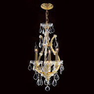 4 Light Maria Theresa mini crystal Chandeliers KL-41039-4-G