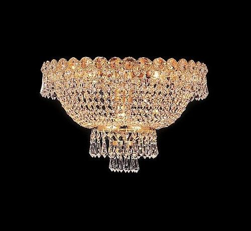 Flush mount crystal chandeliers KL-41037-1610-G