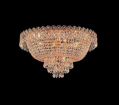 Flush mount crystal chandeliers KL-41037-1810-G
