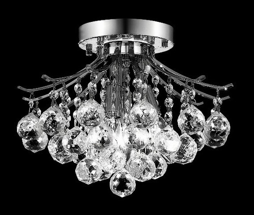 Contour Crystal Flush Mount Chandelier KL-41038-1212-C