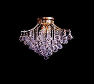 Contour Crystal Flush Mount Chandelier KL-41038-1914-G