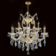 13 Light Maria Theresa crystal chandeliers KL-41039-2627-G