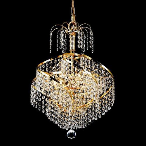 Spiral Crystal Chandeliers KL-41044-1417-G