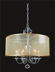 6 Light Crystal Chandelier With Shade KL-41052-1818