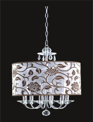6 Light Crystal Chandelier With Flower Shade KL-41052-1818-F