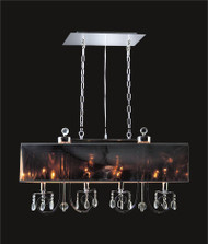 4 Light Crystal Chandelier With Black Shade KL-41052-3610