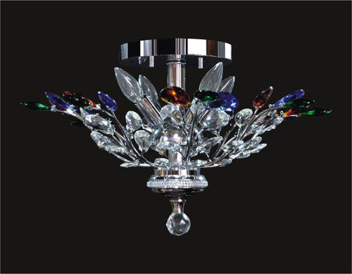 Tree of crystal chandelier KL-41049-2115-C Colored
