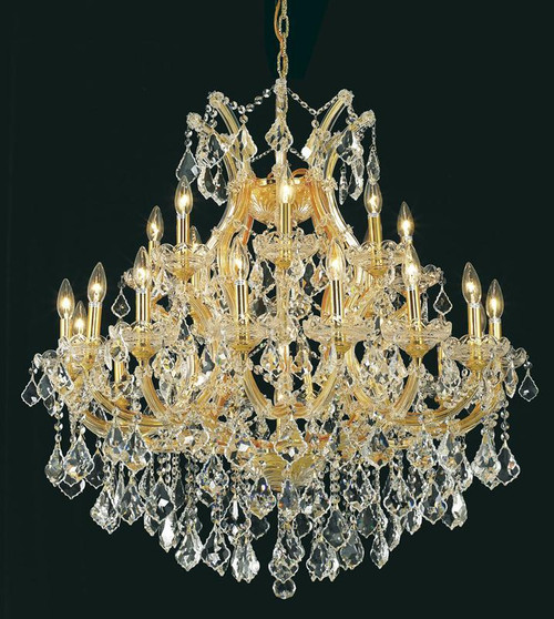 25 Light Maria Theresa Crystal Chandeliers KL-41039-36-G