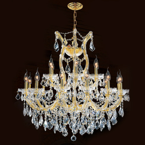 19 Light Maria Theresa Crystal Chandeliers KL-41039-30-G