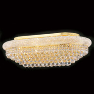 Bagel Crystal Flush Mount Light KL-41035-3620-G oval