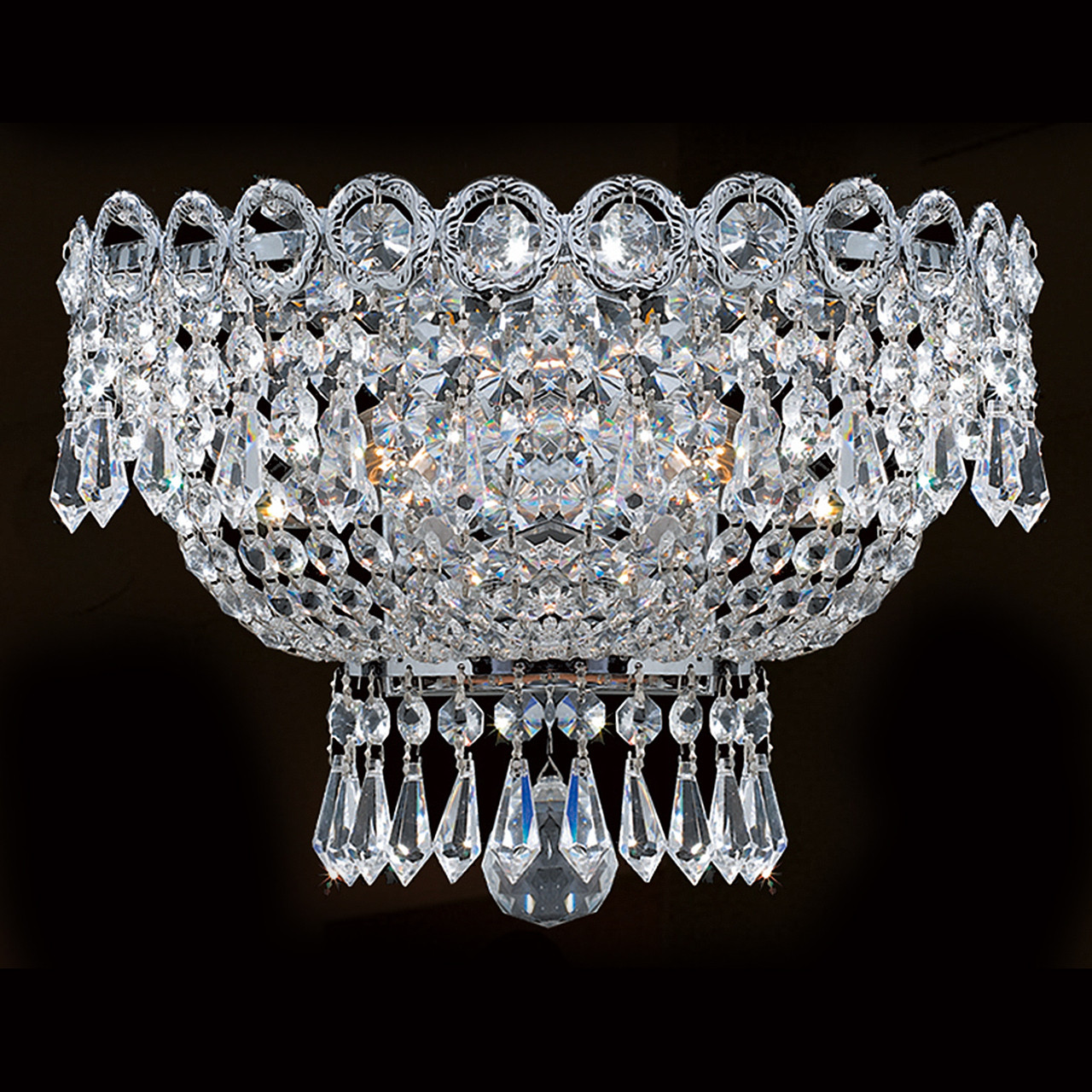 Image of: Empire 3 Light Crystal Wall Sconce 1900w126c