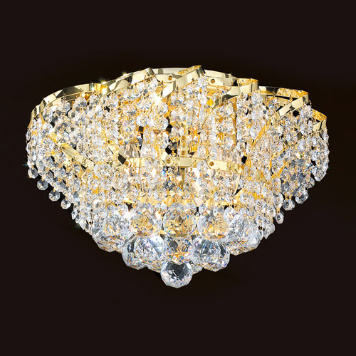 Cinderella Crystal Flush mount Light KL-41041-1610-G