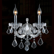 2 Light Maria theresa crystal wall sconces KL-41039-2-C