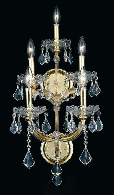 5 Light Maria Theresa Crystal Wall Sconce KL-41039-5-G